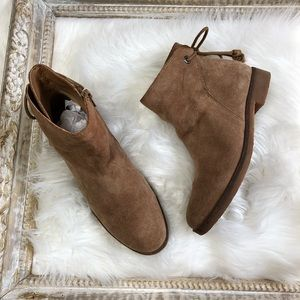 Lucky Brand Gwenore Tie Ankle Booties